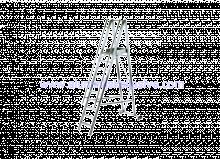 Aluminijske ljestve sa stajaćom površinom i rukohvatom - model sa 5 gazišta
