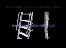 Aluminijske ljestve sa stajaćom površinom i rukohvatom - model sa 15 gazišta - pojedinosti