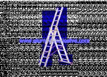 Trodijelne aluminijske ljestve 3 x 9
