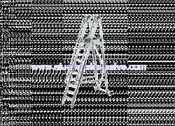 Aluminijske ljestve sa stajaćom površinom i rukohvatom - model sa 13 gazišta