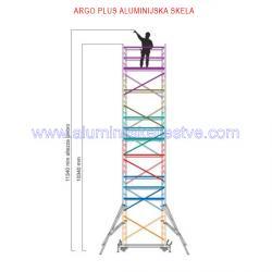 Profesionalna aluminijska skela Argo Plus AP6 /B