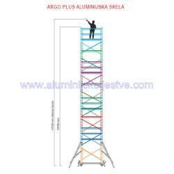 Profesionalna aluminijska skela Argo Plus AP8 /B