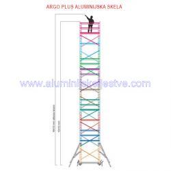 Profesionalna aluminijska skela Argo Plus AP9 /B
