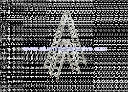 Dvostrane aluminijske ljestve sa 11 gazišta
