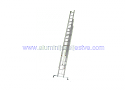 Trodijelne aluminijske ljestve sa sajlom za izvlacenje 3 x 10
